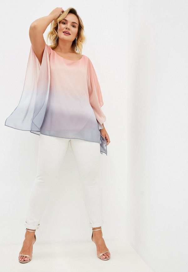 Фото 2 - женскую блузку Evans розового цвета