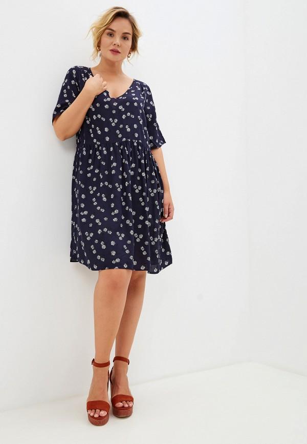 Фото 2 - женское платье Evans синего цвета