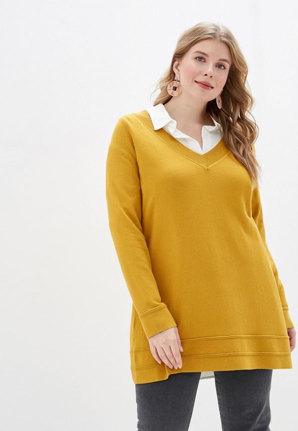 женский пуловер evans, желтый