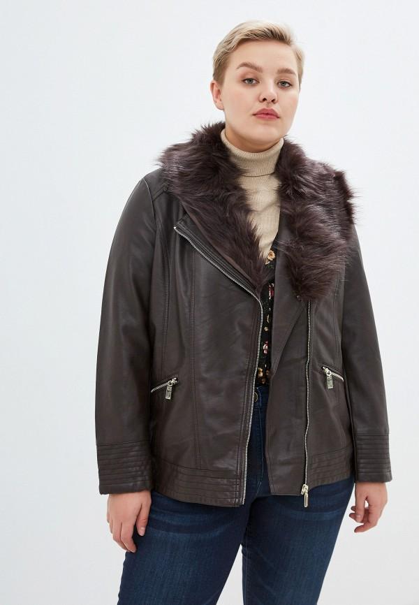 женская куртка evans, коричневая
