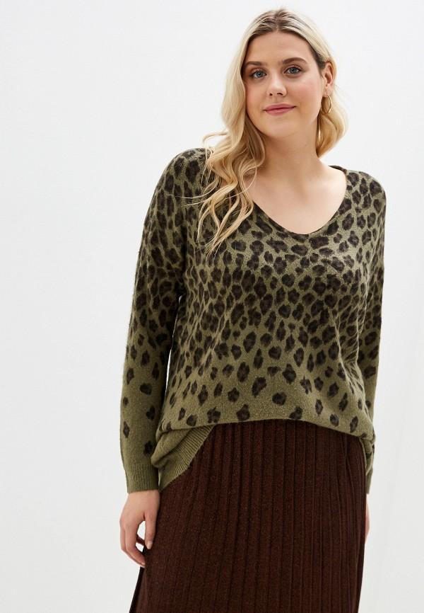 женский пуловер evans, зеленый