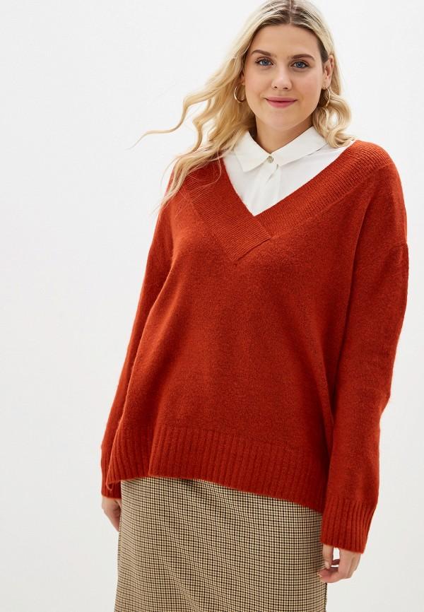 женский пуловер evans, оранжевый