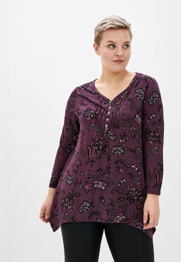 женская блузка evans, фиолетовая