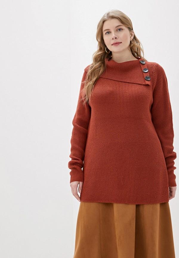 женский свитер evans, коричневый