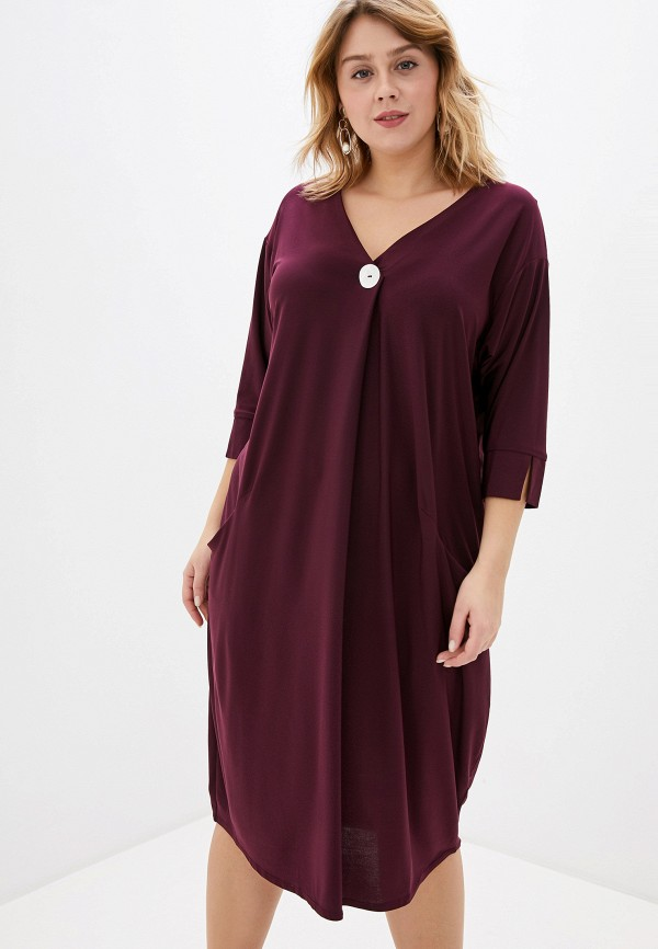 женское повседневные платье evans, бордовое