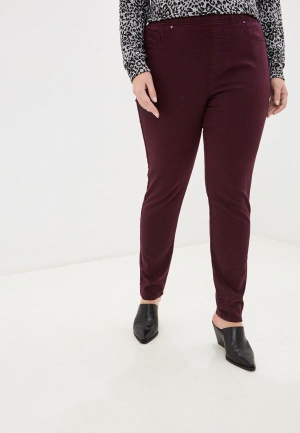 женские прямые брюки evans, бордовые