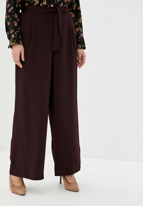 женские брюки клеш evans, бордовые