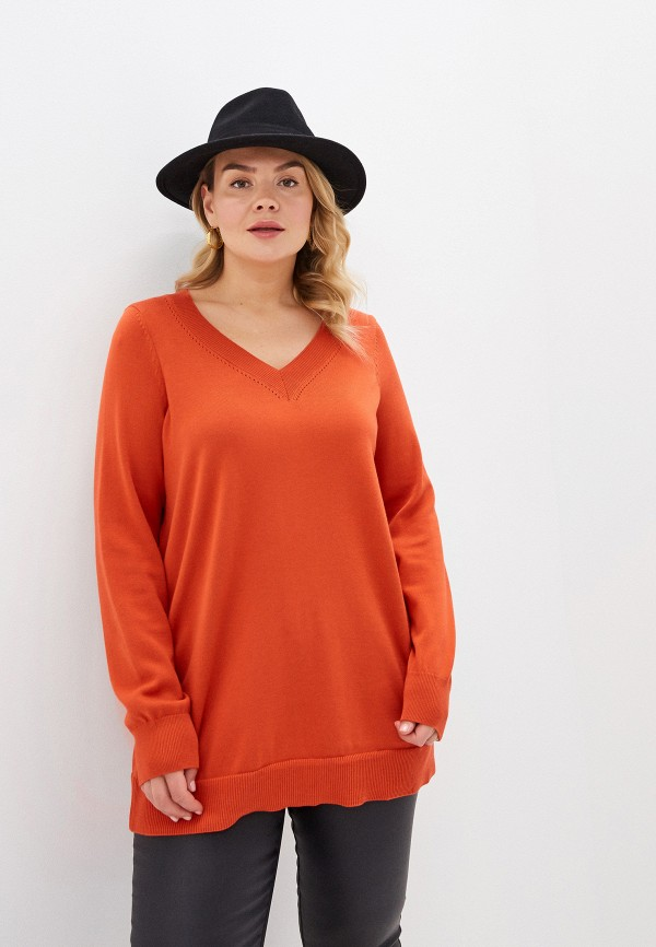женская туника evans, оранжевая