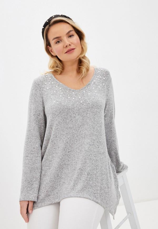 женский пуловер evans, серый