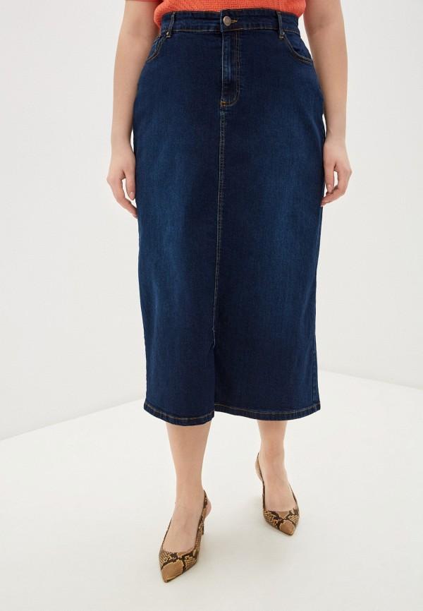 женская джинсовые юбка evans, синяя
