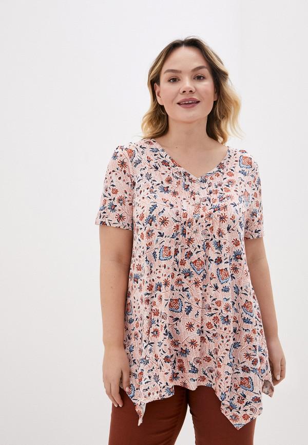 женская блузка evans, розовая