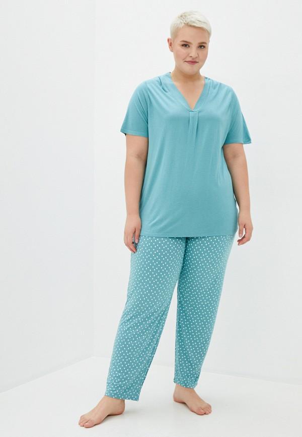 женская пижама evans, зеленая