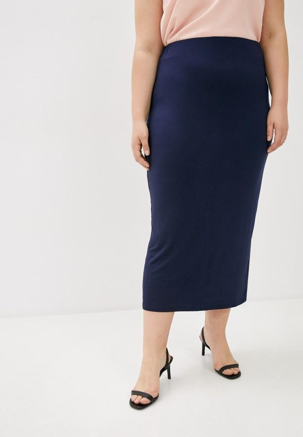 женская прямые юбка evans, синяя