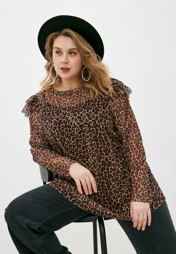 женская блузка evans, коричневая