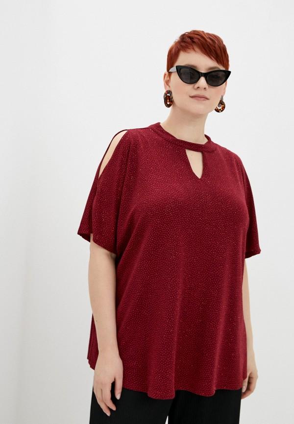 женская блузка evans, бордовая