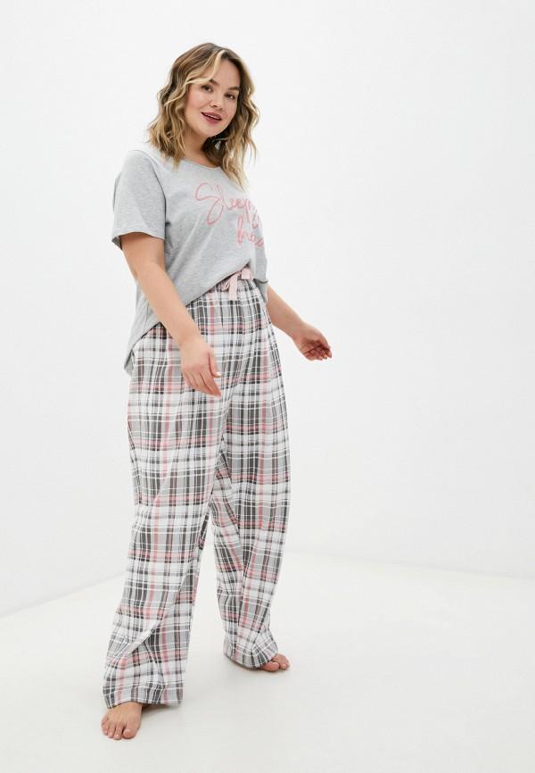 женская пижама evans, серая