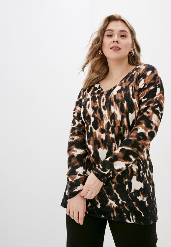 женский пуловер evans, коричневый