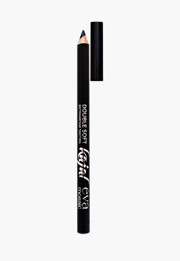 карандаш для глаз eva mosaic, черный