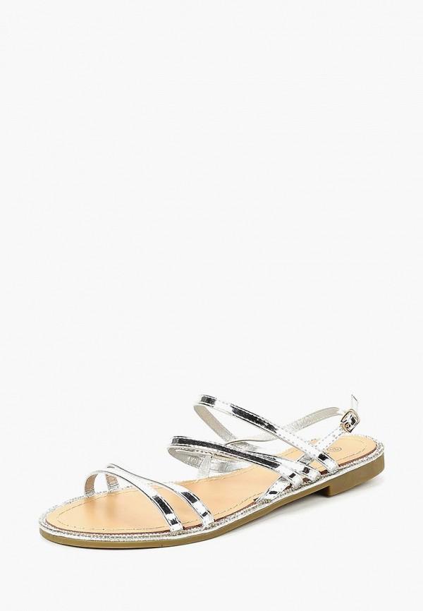 женские сандалии exquily, серебряные