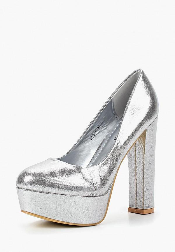 Купить Туфли Exquily, EX003AWCAOH4, серебряный, Осень-зима 2018/2019