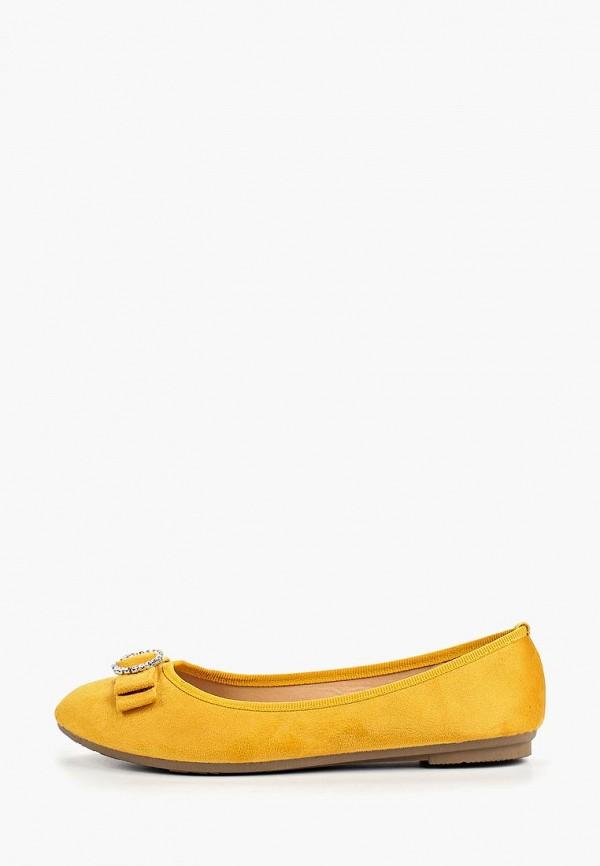 женские балетки exquily, желтые