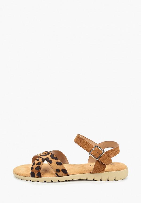 женские сандалии exquily, коричневые