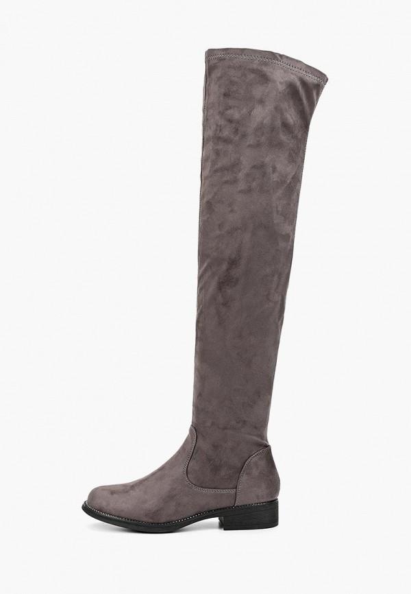 женские ботфорты exquily, серые