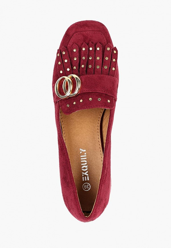 Фото 4 - женские туфли Exquily бордового цвета