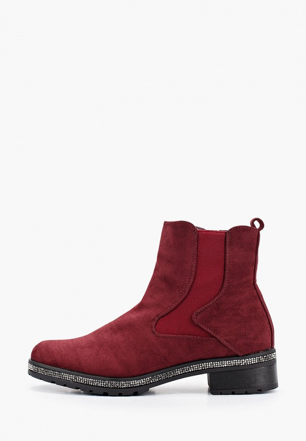 женские ботинки exquily, бордовые