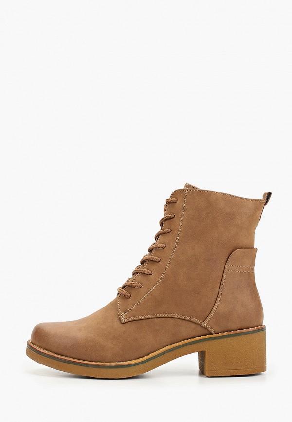 женские ботинки exquily, коричневые