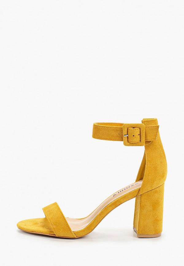 женские босоножки exquily, желтые