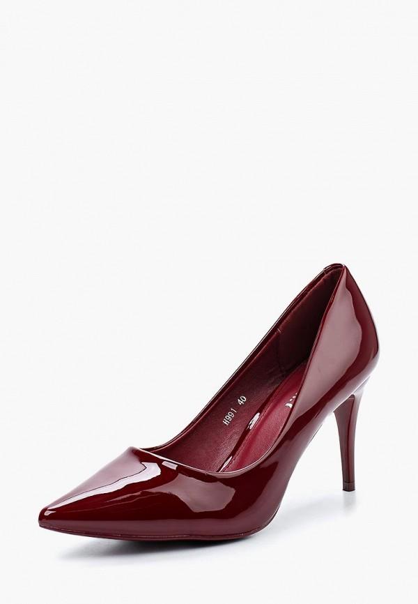 Купить Туфли Exquily, EX003AWWMC59, бордовый, Осень-зима 2018/2019