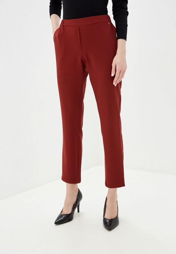 женские прямые брюки exsy, коричневые