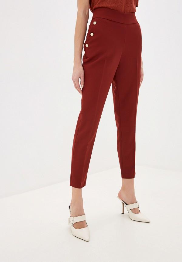 женские зауженные брюки exsy, бордовые