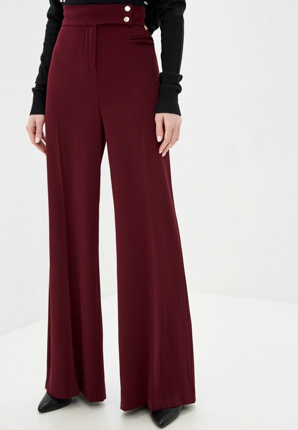 женские прямые брюки exsy, бордовые