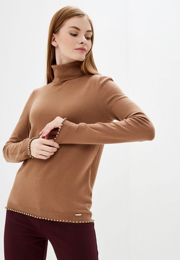 женская водолазка exsy, коричневая