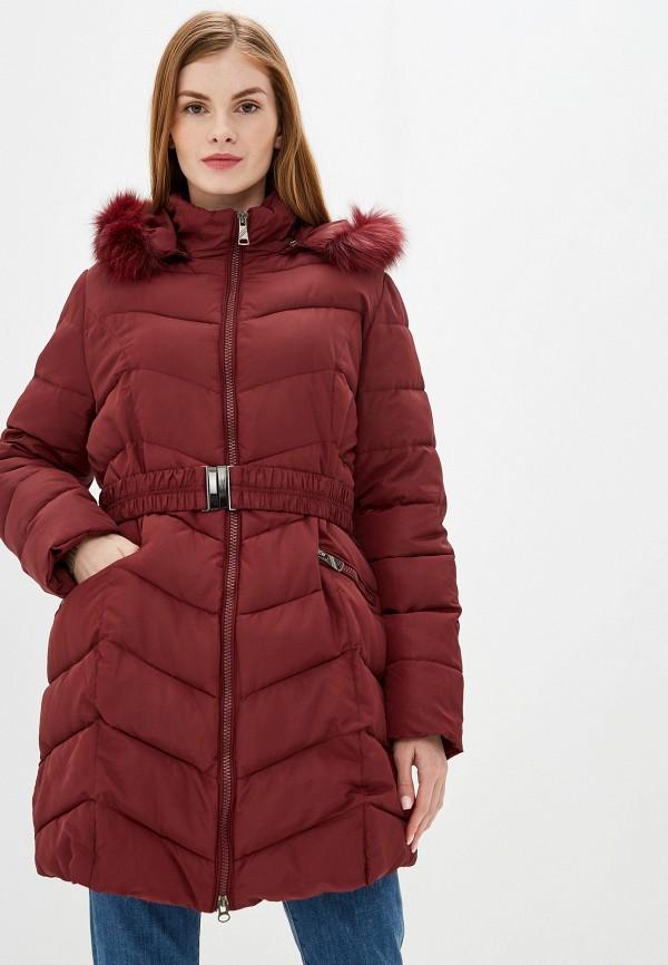женская куртка exsy, бордовая