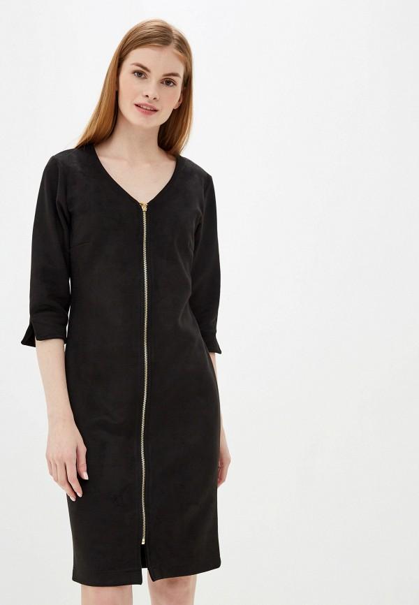 женское платье-футляр exsy, черное