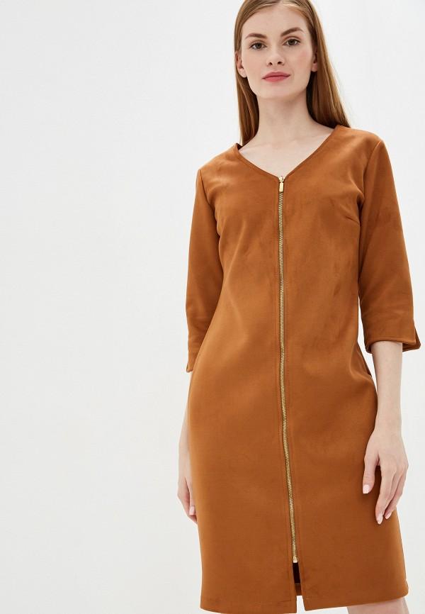 женское повседневные платье exsy, коричневое