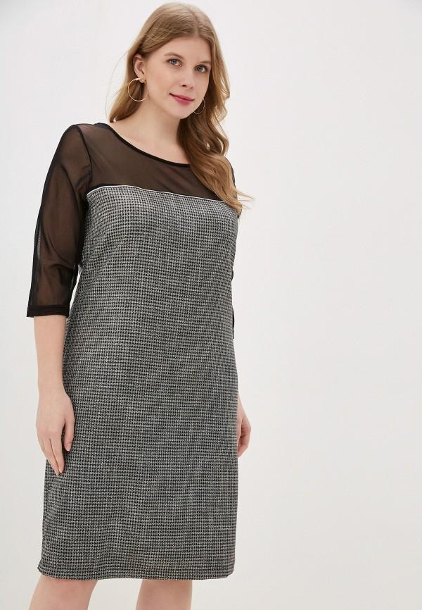женское повседневные платье exsy, серое