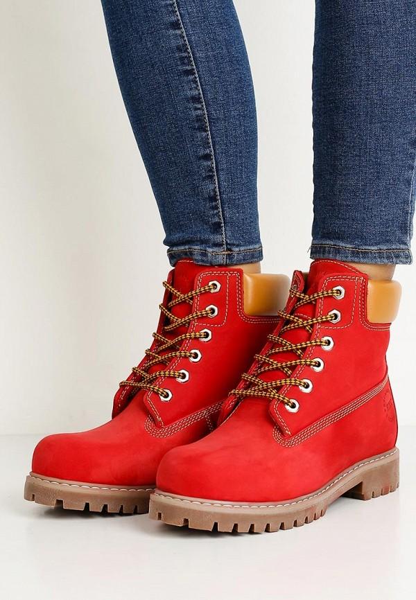 Фото 8 - женские ботинки и полуботинки Excavator красного цвета
