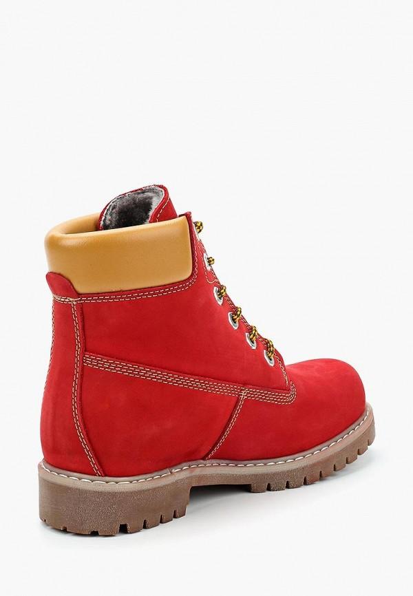 Фото 2 - женские ботинки и полуботинки Excavator красного цвета