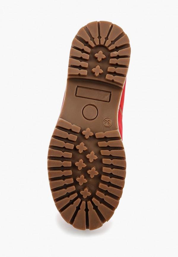 Фото 3 - женские ботинки и полуботинки Excavator красного цвета