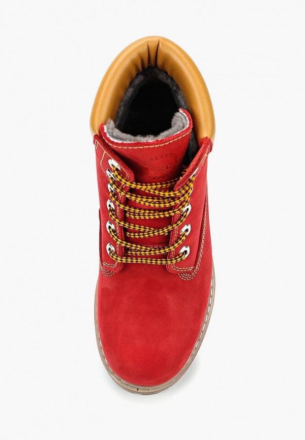 Фото 4 - женские ботинки и полуботинки Excavator красного цвета