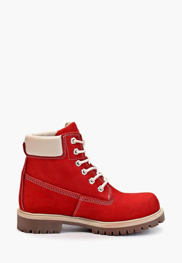 Фото 5 - женские ботинки и полуботинки Excavator красного цвета