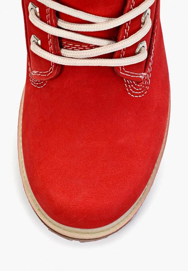 Фото 6 - женские ботинки и полуботинки Excavator красного цвета