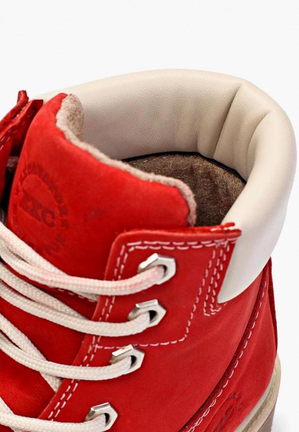 Фото 7 - женские ботинки и полуботинки Excavator красного цвета