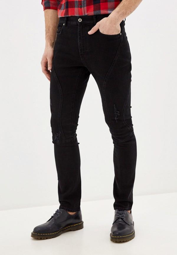 мужские зауженные джинсы faith connexion, черные