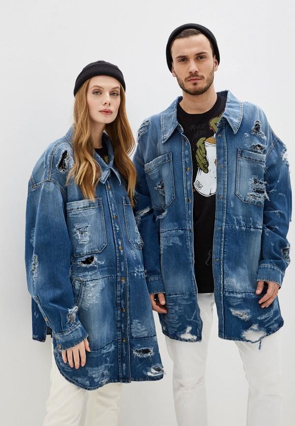 женская джинсовые куртка faith connexion, синяя