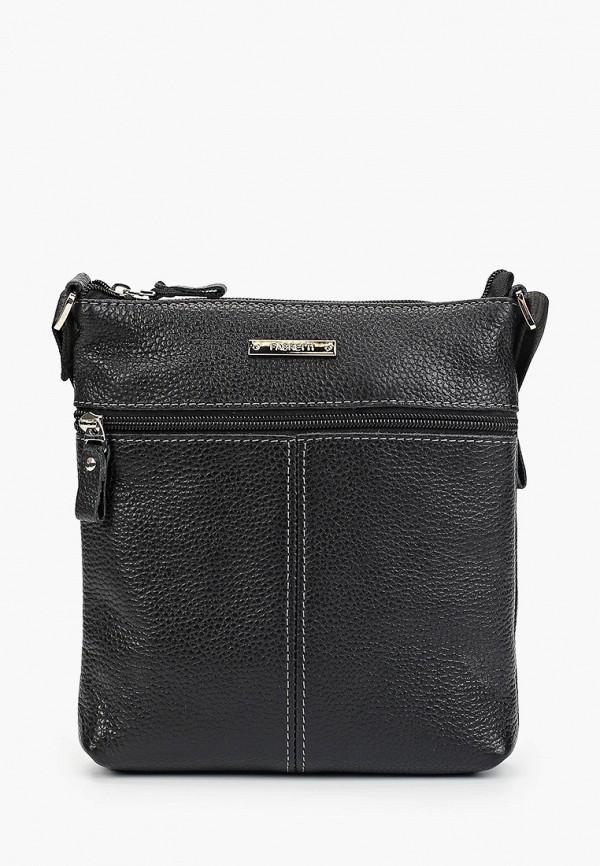 мужская сумка через плечо fabretti, черная